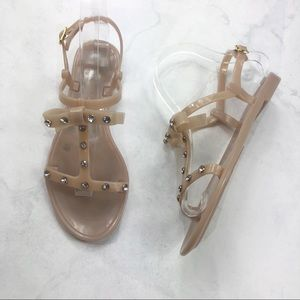 [Kate Spade] Tan Jelly Bow Sandals